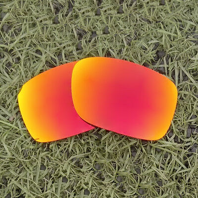 c368519316 Fire Red Mirrored Polarized Replacement Lenses For-Oakley Crankcase  Sunglasses