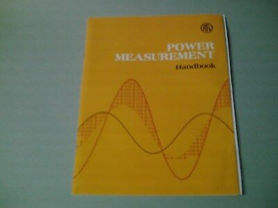 Power Measurement Handbook  By RFL  Various Instruments To Use in Power Industry