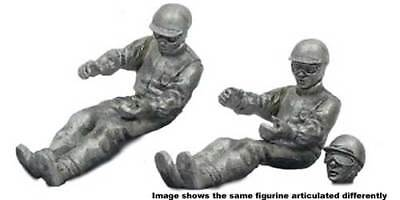 Denizen Race Driver 'Seated' Early 1960s - Unpainted Metal Figurine 1/43 Scale