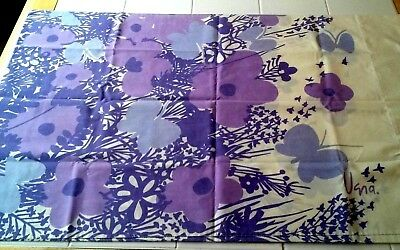Vtg Vera Neumann/Burlington Std Percale Pillowcase Purple Flowers/Butterflies