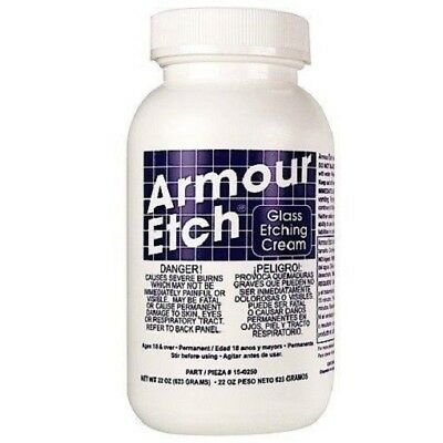 Armour Etch Glass Etching Cream Window Glassware 22 oz easy to use!