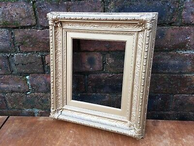 Antique Old Heavily Gilded Gilt Gold Gesso Wooden Picture Frame Decorative