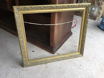 Large Old Gold Gilded Gilt Gesso Ornate Picture Painting Frame Decorative