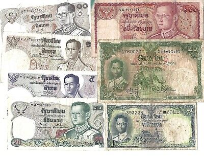 7 Banknotes from Thailand