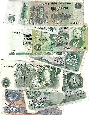 United Kingdom 1 pound x 8 different style