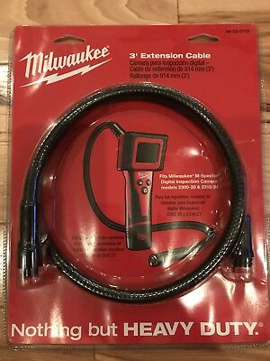 Milwaukee M-Spector Digital Inspection Camera 48-53-0110 3 ft. Extension Cable