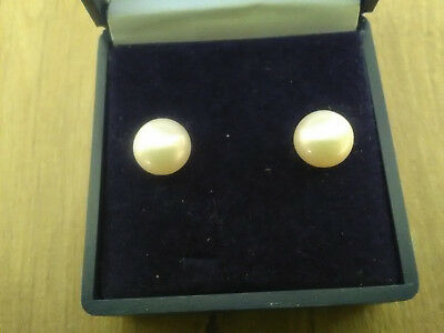 Pair Of 14Kt/18Kt Gold Cultured Pearl Earrings