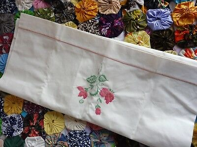 Vintage Linen, Pair of Large pillowcases, stored/unused