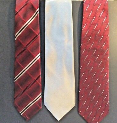 Men's Designer Ties: Nordstrom, Croft & Barrow + Van Heusen Ties -  Lot Of 3