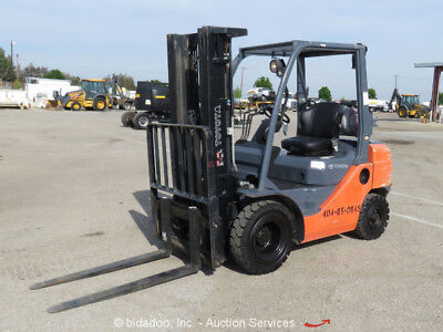 2012 Toyota 8FGU25 5K 4,350 lbs Warehouse / Industrial Forklift D/F S/S  Lift