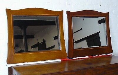 A Pair of Edwardian Mahogany Inlaid Wall Mirrors of Good Size and Shape