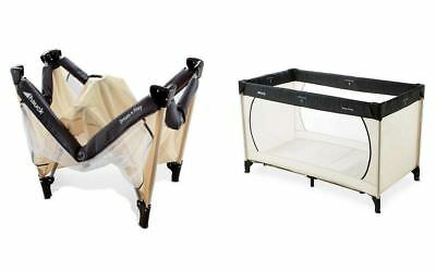 Brand New Hauck Dream & N Play Travel Cot  Beige Grey With Mattress