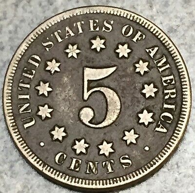 1868 Shield Nickel Xtra Nice with Great Detail *Check Photos *FREE SHIPPING