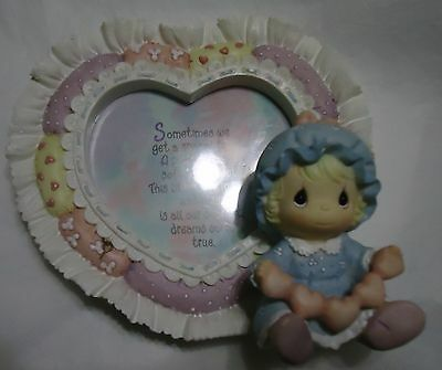 Beautiful Precious Moments® Baby's First Picture Frame ~ Mint Condition