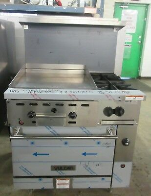 "Vulcan 36"" Natural Gas 2 Burner Range w/ 24"" Thermostat Controlled Griddle"