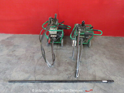 Lot of (2) Little Beaver Model 5 One-Man Post Hole Auger Honda GX160 Gas bidadoo