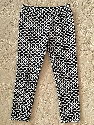 Girls Janie and Jack 4T Black and White Pont Pant