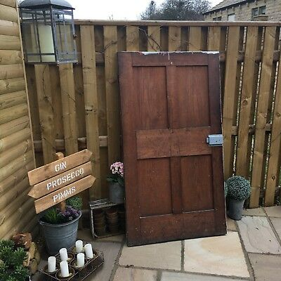 Old Pitch Pine Wooden Door
