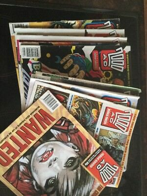 Job Lot 9 X 2000ad comics All Good Nick