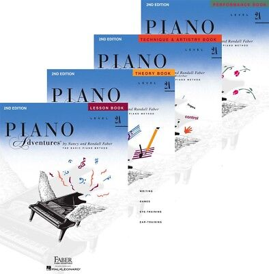 Faber Piano Adventures Level 2A - Four Book Pack (Lesson/Theory/Perf/Technique)
