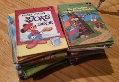 Huge Lot Kids Childrens Hardback Old Vintage Disney's World of Reading 34 Books