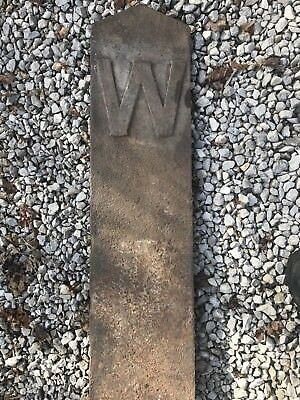 Hard To Find Antique Cast Iron Railroad Whistle Sign 8 Ft.