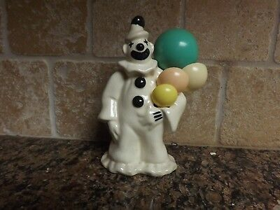 Vintage Circus Clown & Balloons Measuring Spoon Holder + Plastic Spoons Set