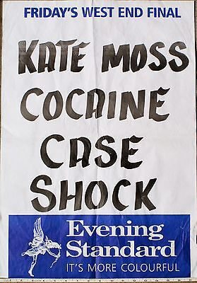 Evening Standard Kate Moss cocaine scandal news posters 2005
