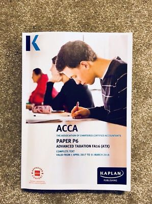 ACCA P6 TAXATION - Complete Text by Kaplan Publishing 2017