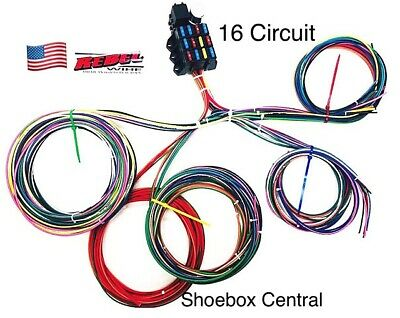 rebel wire 12 volt wiring harness, 16 circuit universal 12 volt wire size 12 volt electric wire harness #14