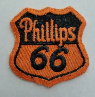 """Vintage 1950s """"Phillips 66"""" Gas Station Uniform Jacket Patch Gasoline From USA"""