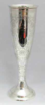 "Outstanding 14"" Tall 1896 Gorham Handcrafted Sterling Silver Vase"