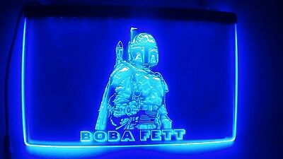 Neon Sign - Star Wars Boba Fett (Blue)