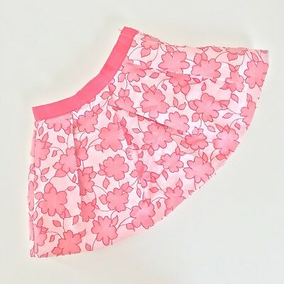 Janie and Jack Baby Girl Skirt Size 12 to 18 Months Pink Floral Special Occasion