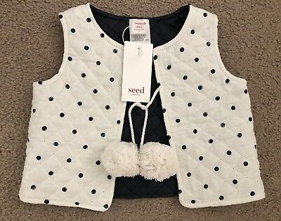 Seed Heritage Baby Vest Polka dot Size 18-24 Months size 2 BNWT
