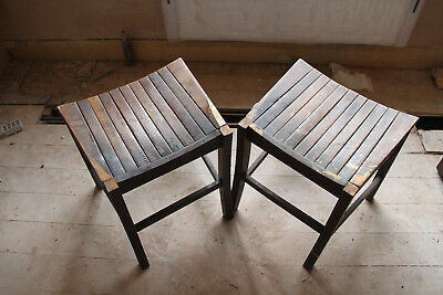 Vintage Wooden Chairs/stools X 2