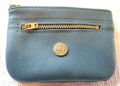 "All Leather Coin Purse With Extra Pocket,  5.5"" & 4"" Pockets, Teal"