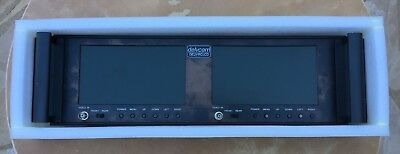 """Delvcam DELV-RCLCD Dual 7"""" LCD Monitors 19"""" Rack Mount Used"""