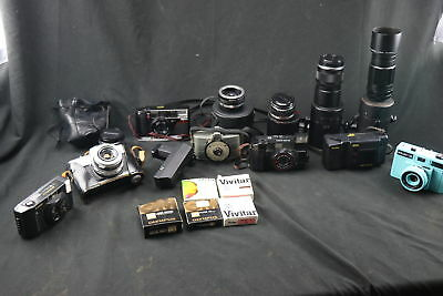 Large Lot Of Vintage Cameras, Filters, And Lenses