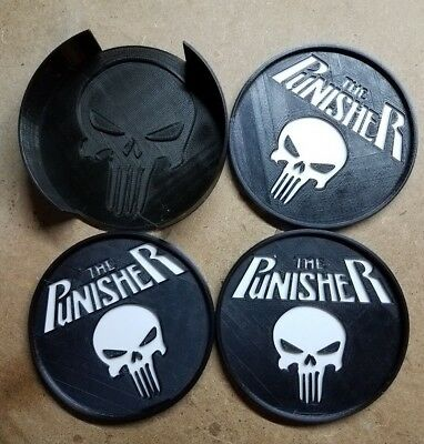 The Punisher Coasters (3d printed)