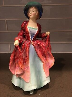 Vtg Royal Doulton Figurine Margaret Dress Bone China Woman England