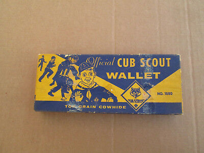Vintage Official Cub Scout BSA wallet no. 1880   empty box only