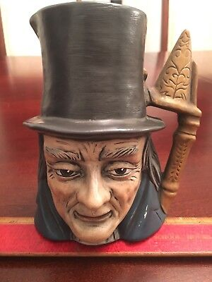 toby mug antique rare hand painted signed on the bottom