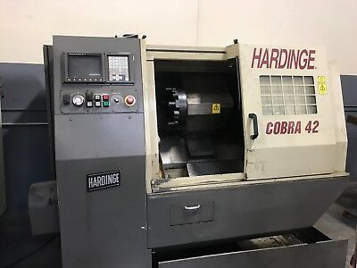 2001 HARDINGE COBRA 42 CNC TURNING CENTER FANUC 21i CONTROL