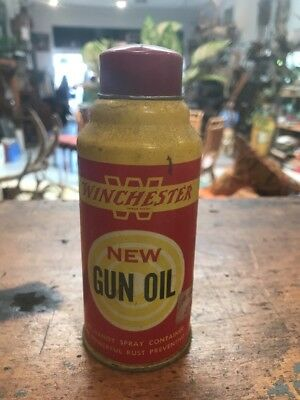 Winchester Gun Oil Can Spray Tin See Vintage Handy Oiler Cleaning Kit