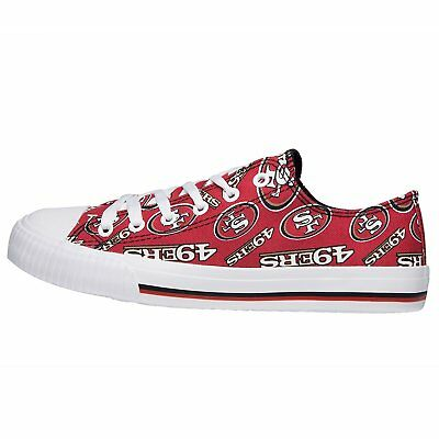 San Francisco 49ers NFL Womens Low Top Repeat Print Canvas Shoes
