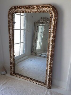 Large Old French Mirror ~ Parisian ~ Mantel ~ Must see! ~