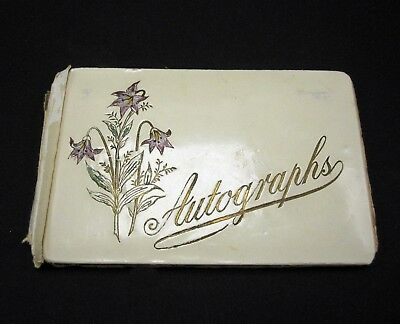 Antique Friendship Autograph Book Album Victorian Scraps 1900 Cleveland Ohio