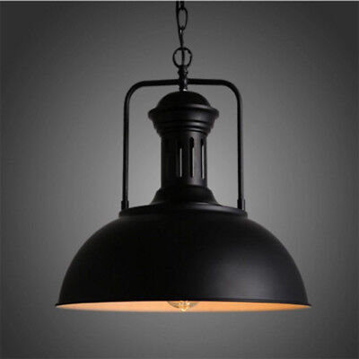 Retro Industrial Farmhouse Hanging Pendant Lamp Vintage Light Shade Barn Fixture