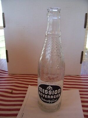 Vintage Mission Beverages 12 oz Bottle, S.D.